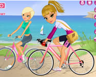 Maria and Sofia go biking j�t�k