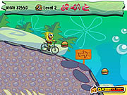 Spongebob bike ride BMX biciklis j�t�kok